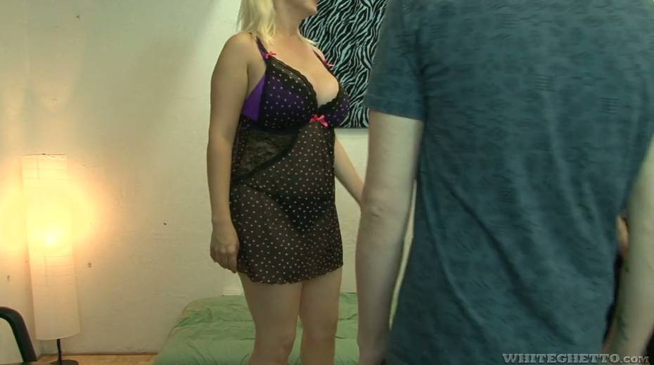 Big bottomed and busty blonde Alice Frost hooks up with bisexual dudes - 1. pic