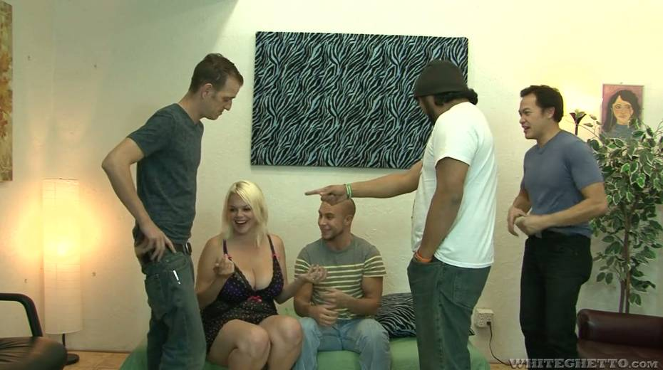 Big bottomed and busty blonde Alice Frost hooks up with bisexual dudes - 3. pic