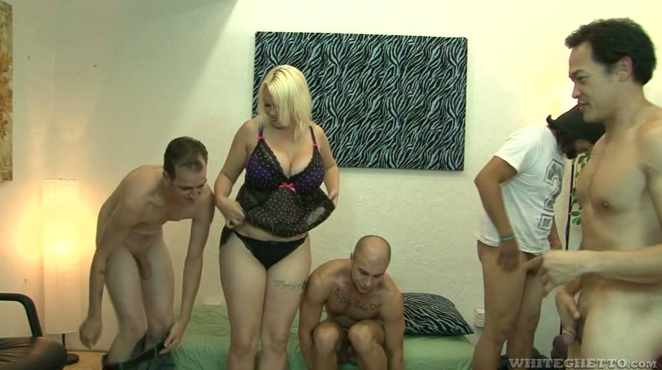 Big bottomed and busty blonde Alice Frost hooks up with bisexual dudes - 4. pic