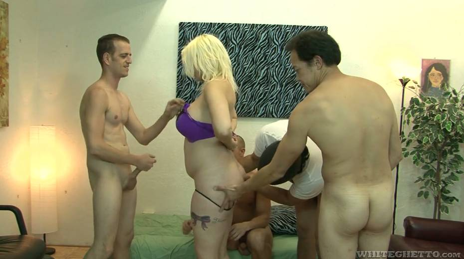 Big bottomed and busty blonde Alice Frost hooks up with bisexual dudes - 5. pic