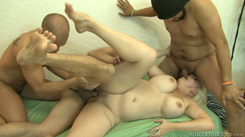 Big bottomed and busty blonde Alice Frost hooks up with bisexual dudes - 21. pic