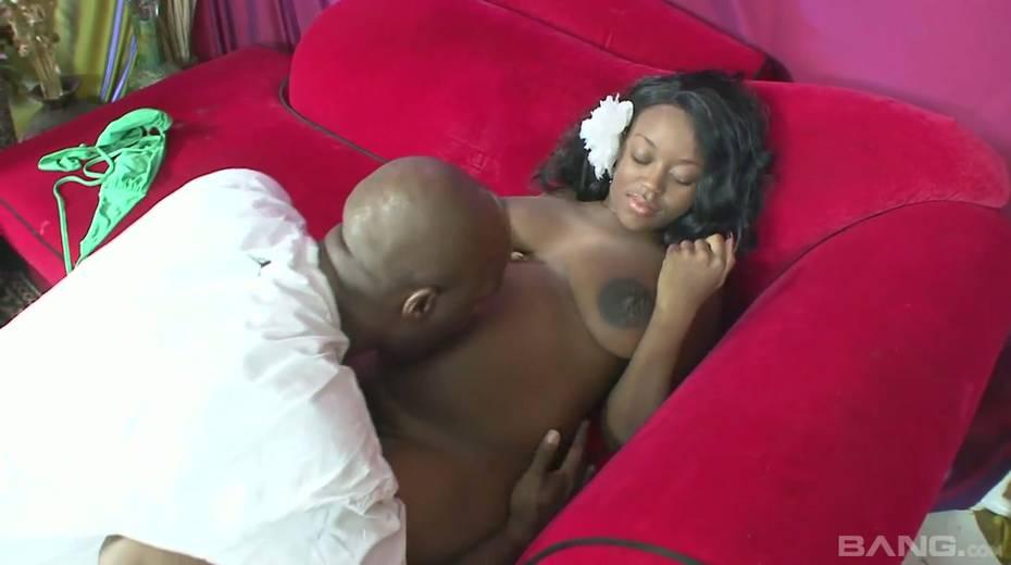 Horny black guy fucks fat black pussy of pregnant ebony wife Vanessa Rain - 5. pic