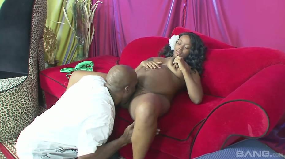 Horny black guy fucks fat black pussy of pregnant ebony wife Vanessa Rain - 6. pic