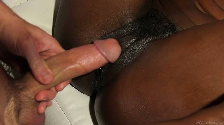 Ebony chick Ana Foxxx is fucked and jizzed by several white dudes - 9. pic