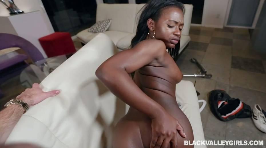 Black hottie Noemie Bilas is fucked by hot blooded white stud - 19. pic