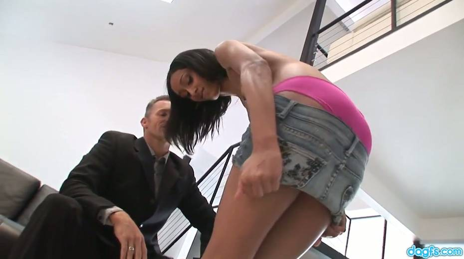 Cleaning Latin girl Isabella goes wild on a hard penis and gets doggy fucked - 5. pic