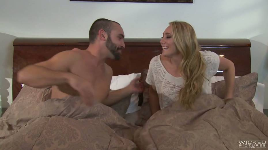 Horny bitch AJ Applegate is sucking dick like greedy for semen - 2. pic