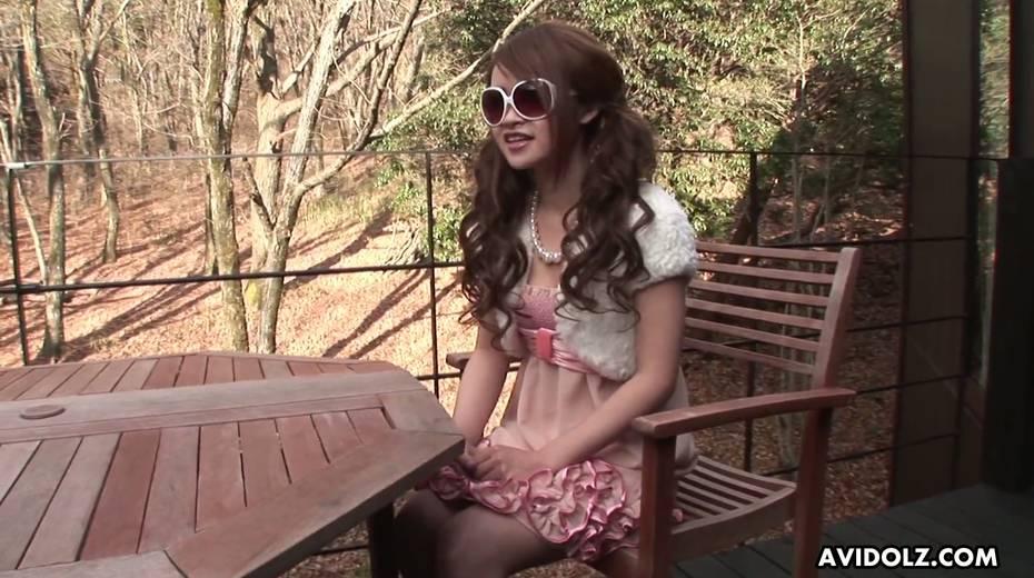 Japanese chick in glasses Ayumi Inamori gives a great yum-yum blowjob - 1. pic