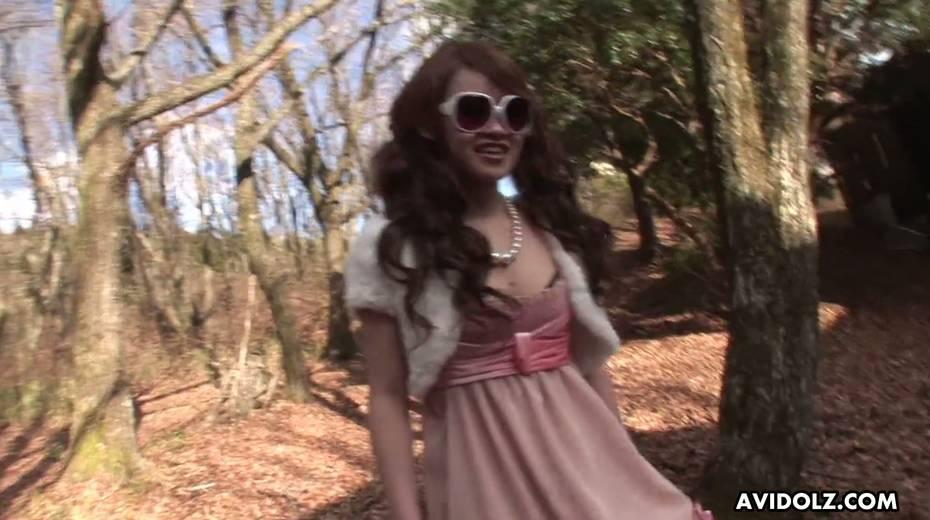 Japanese chick in glasses Ayumi Inamori gives a great yum-yum blowjob - 13. pic