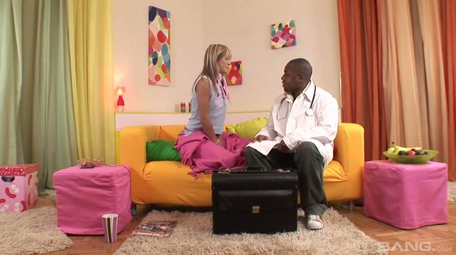 Kinky black doctor fucks yummy blond babe Blue Angel and cums in her mouth - 3. pic