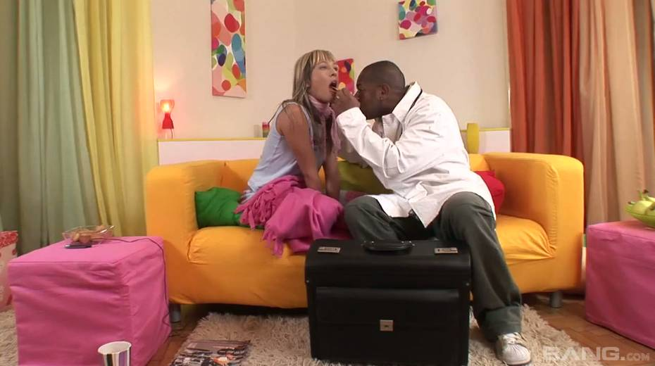 Kinky black doctor fucks yummy blond babe Blue Angel and cums in her mouth - 5. pic