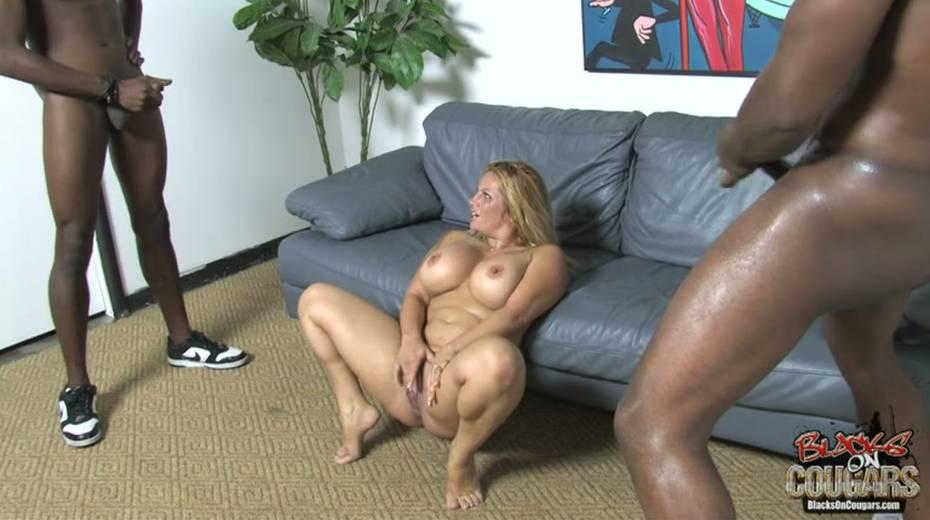 Heavy tittied bitch rides big black dude and masturbates cunt - 6. pic