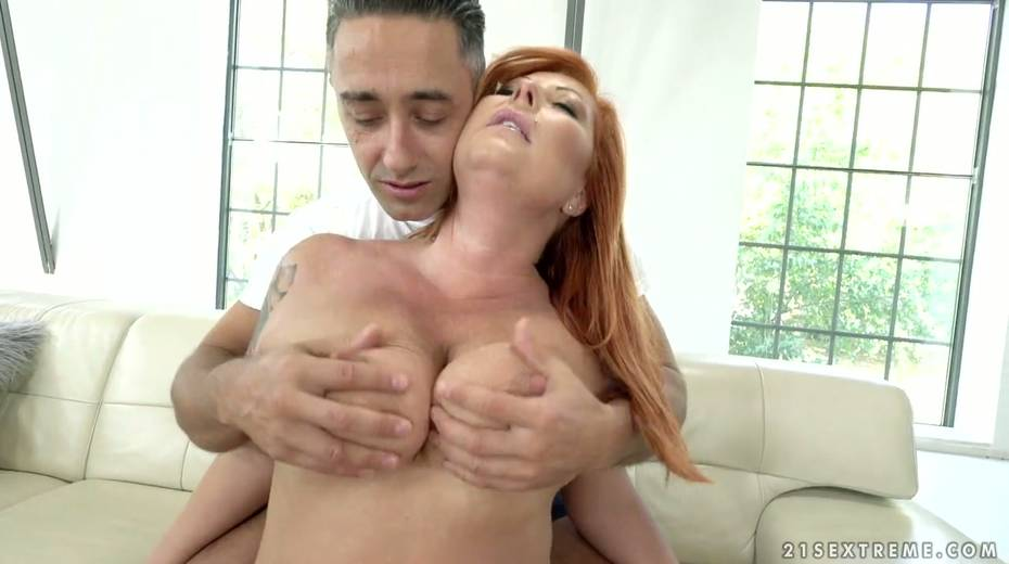 Red haired cougar Tammy Jean gets her anus fucked by young horny lover - 4. pic