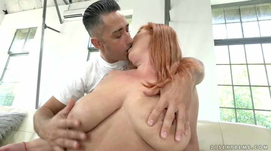 Red haired cougar Tammy Jean gets her anus fucked by young horny lover - 5. pic