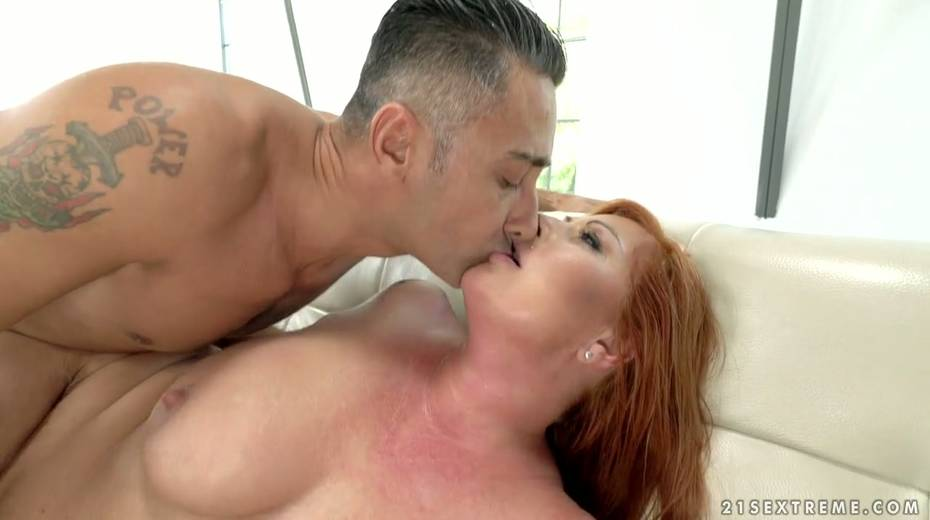 Red haired cougar Tammy Jean gets her anus fucked by young horny lover - 24. pic