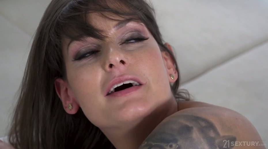 Tattooed Hungarian babe Victoria Velvet is fucked in her oiled up anal hole - 7. pic