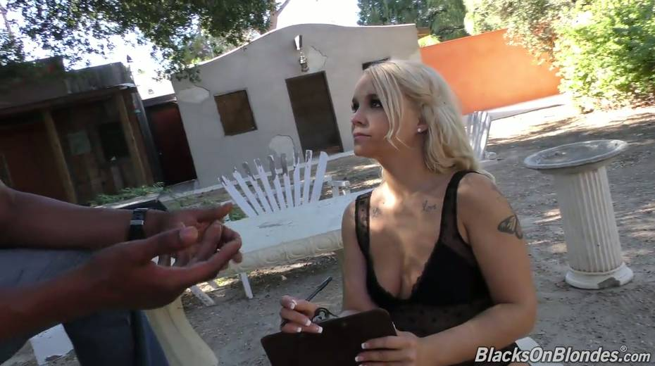 Sexy white chick Bella Jane is fucked by three hot blooded black hunks - 1. pic