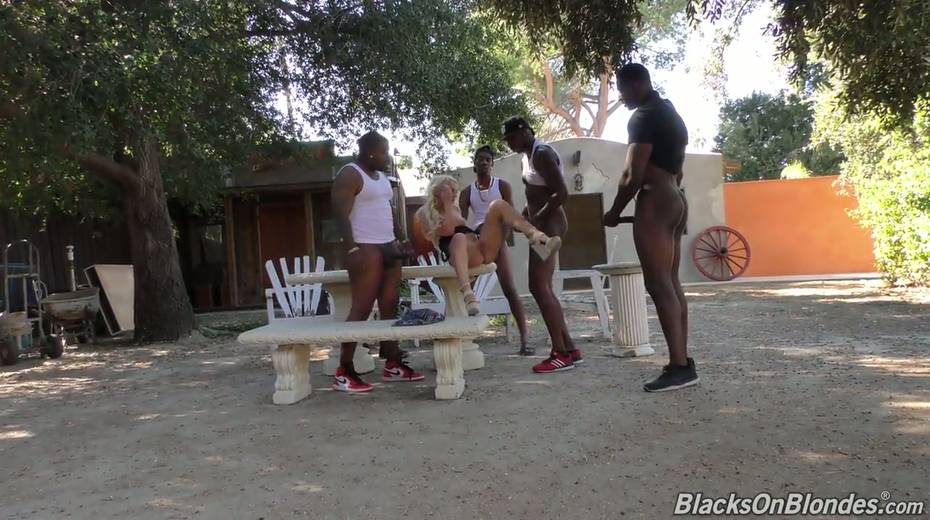 Sexy white chick Bella Jane is fucked by three hot blooded black hunks - 15. pic