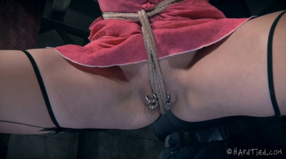 Restrained bald headed gal is punished in the torture room - 8. pic