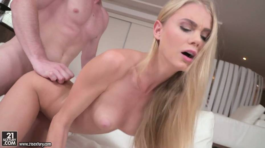 Leggy blonde Nancy is fucked by horny guy in different positions - 12. pic