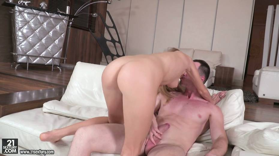 Leggy blonde Nancy is fucked by horny guy in different positions - 28. pic